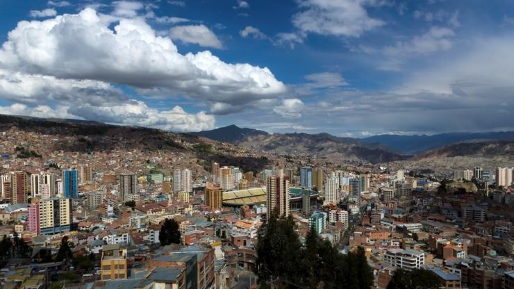 Вид на Ла-Пас с обзорной площадки Killi-Killi 2