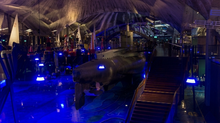 Морской музей Лётная гавань. Главный зал 1