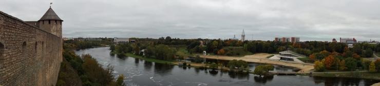 Река Нарва. Панорама