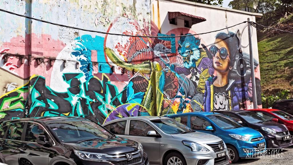 Граффити на парковке