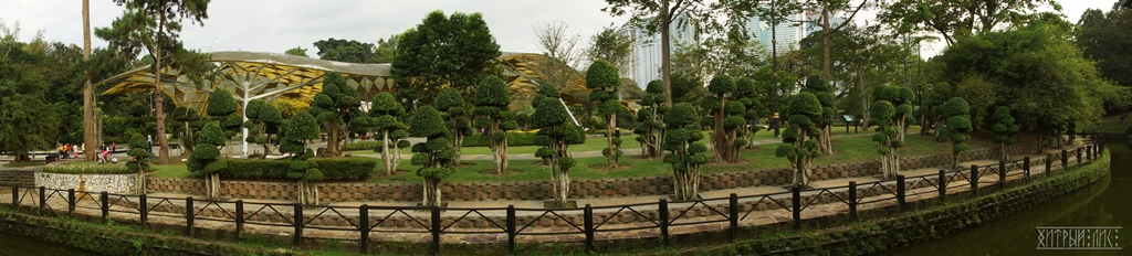 Городской парк. Панорама