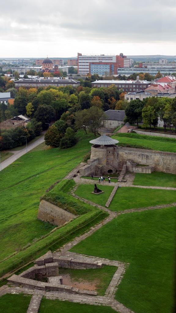 Территория крепости сверху