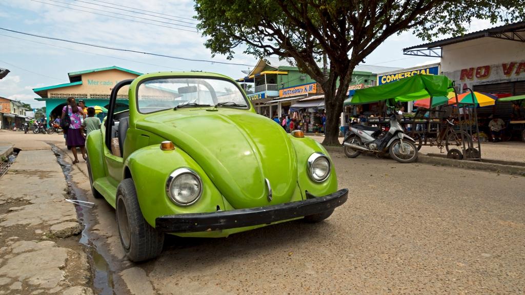 Зелёная машинка