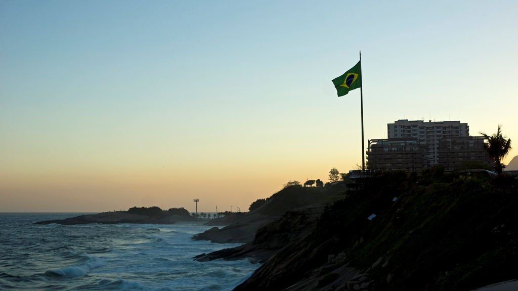 Флаг на закате