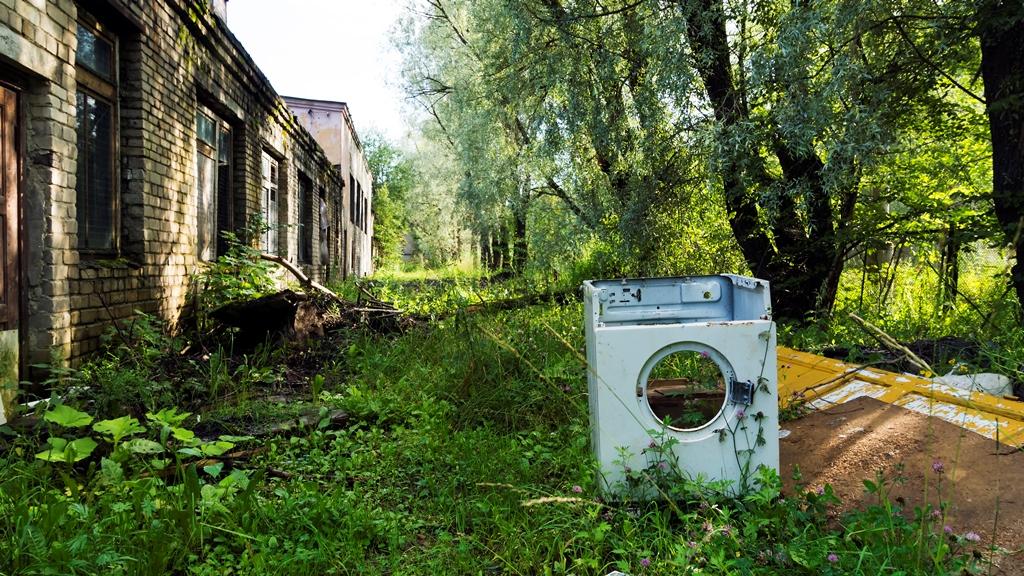 Сортавала. Пейзаж со стиральной машиной