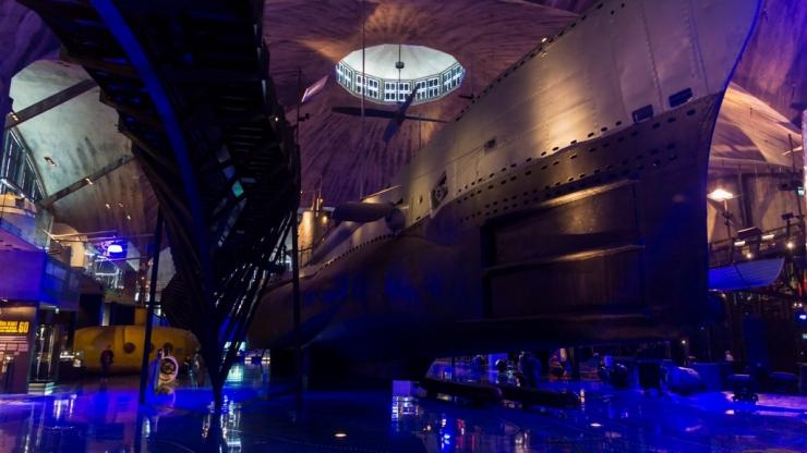 Морской музей Лётная гавань. Главный зал 2
