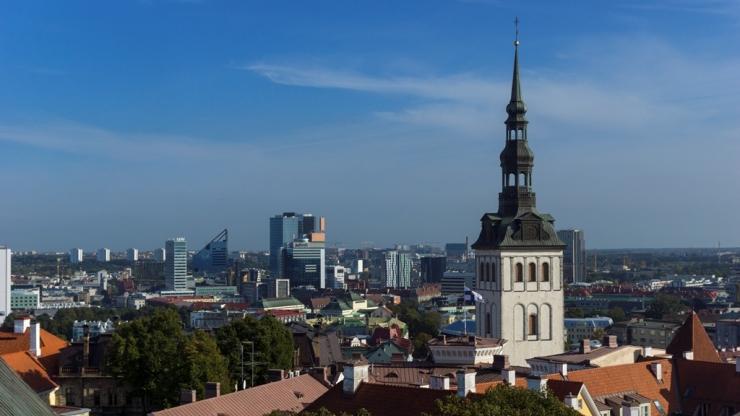 Церковь Св. Николая с башни Домского собора
