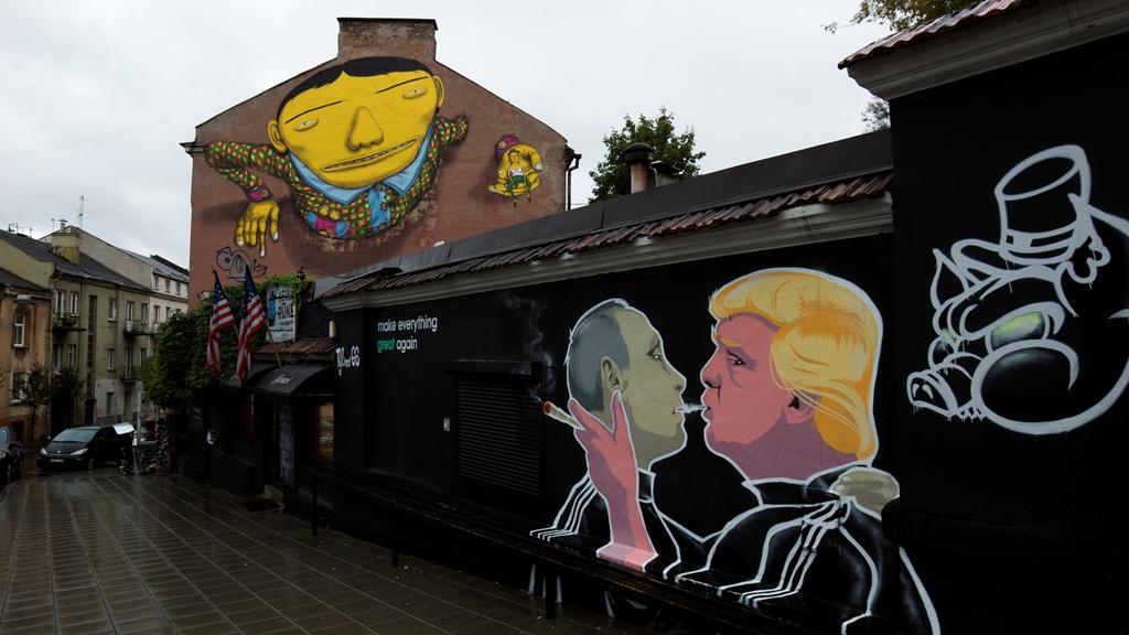Граффити. Путин и Трамп