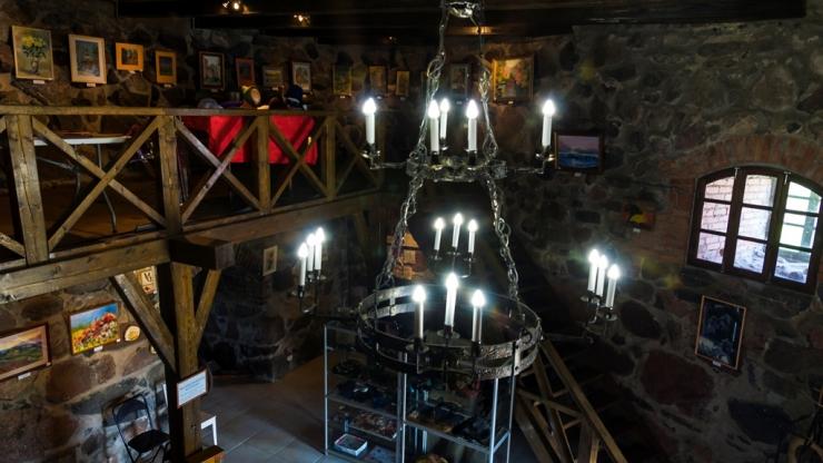 Внутри башни, крепость Корела, Приозерск
