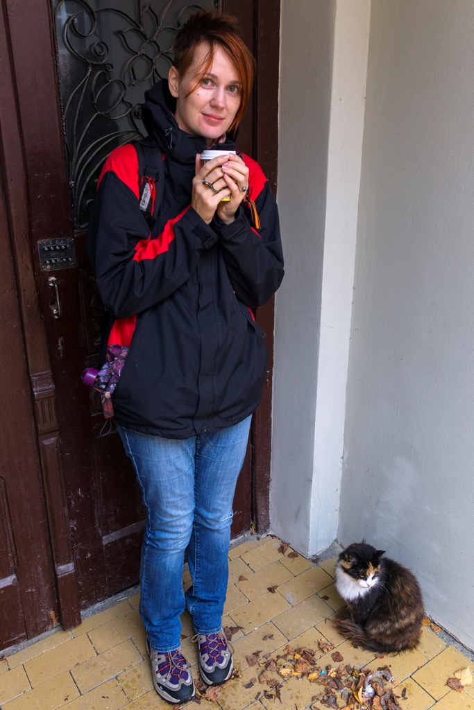 Поля и котик