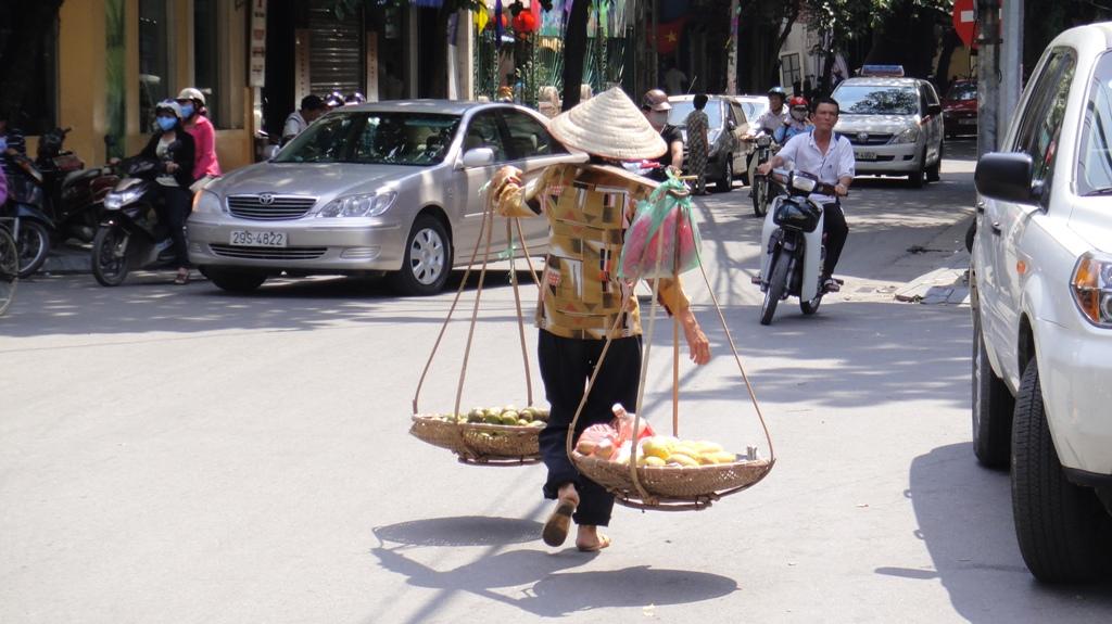 Продавщица фруктов