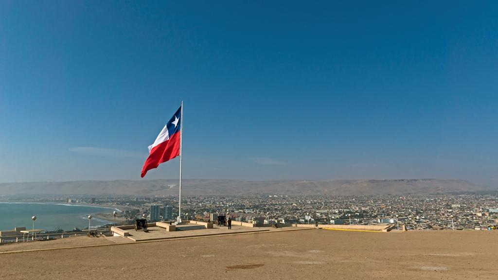Флаг на холме Морро-де-Арика